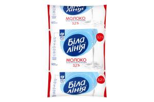 Молоко 3.2% ультрапастеризованное Біла Лінія т/п 900г