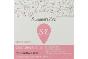 Summer's Eve Sheer Floral Cleansing Cloths - 16 CT