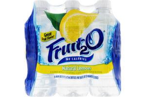 Fruit2O No Calories Natural Lemon Water Beverage- 6 PK