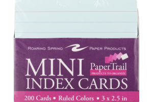 Roaring Spring Paper Products Mini Index Cards - 200 CT