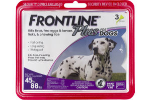 Frontline Plus For Dogs 45 to 88 lbs - 3 PK