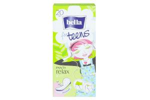 Прокладки ежедневные f/teens relax green tea Bella 20шт