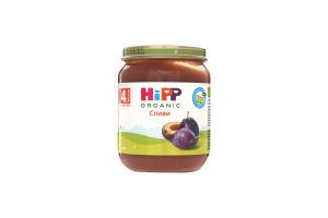 Пюре для детей от 4мес Сливы Hipp с/б 125г