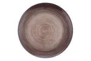 Тарелка ArdaCam Circle коричневая 21см