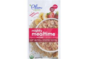 Plum Organics Mighty Mealtime Organic Oatmeal + Ancient Grains Banana Strawberry