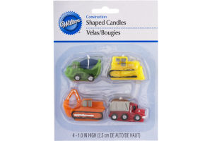 Wilton Construction Shaped Candles - 4 CT