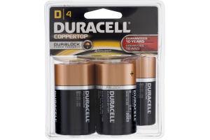 Duracell Batteries D - 4 CT