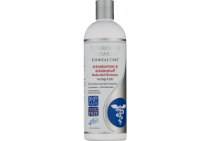 Veterinary Formula Clinical Care Medicated Shampoo for Dogs & Cats Antiseborrheic & Antidandruff