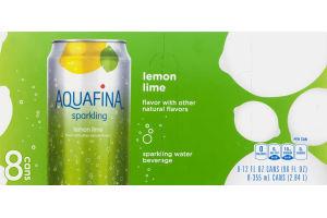 Aquafina Sparkling Lemon Lime - 8 CT
