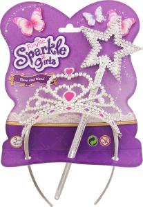 Набор аксессуаров для девочек от 3 лет Tiara and Wand Sparkle Girls Funville 1шт