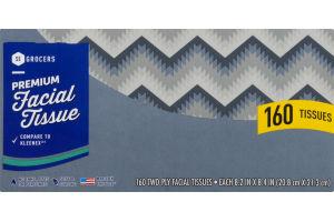 SE Grocers Facial Tissue Premium - 160 CT