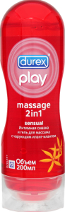 Гель-змазка Durex Play Massage 2 in Sensual 200мл х24