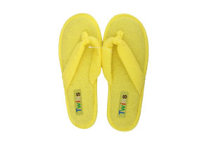 Тапочки-вьетнамки комнатные женские махровые Twins 38 желтые