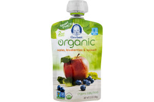 Gerber Organic Baby Food Apples, Blueberries & Spinach