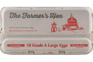 The Farmer's Grade A Large Eggs - 18 CT