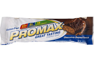Promax Energy Bar Chocolate Peanut Crunch Gluten-Free