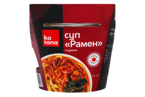Суп японский с курицей Рамен Katana охл к/у 350г