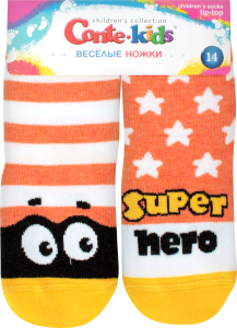 Шкарпетки дитячі Веселі ніжки Tip-Top Conte-kids 17С-10СП, розмір 14, 283 помаранчевий