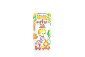 Сок для детей от 5мес Яблоко-морковь Спелёнок т/п 0.2л