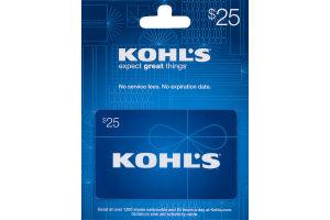 Kohl's Gift Card $25