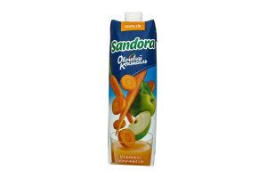 Сок морковно-яблочный с мякотью Овощной коктейль Sandora т/п 0.95л