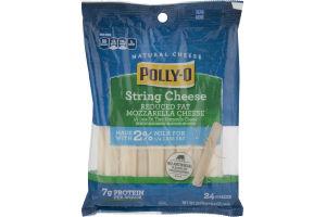 Polly-O Natural String Cheese Reduced Fat Mozzarella - 24 CT