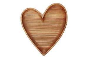 Тарілка Серце Woodstuff 1шт