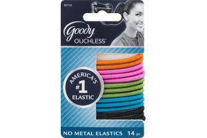 Goody Ouchless No Metal Elastics - 14 CT