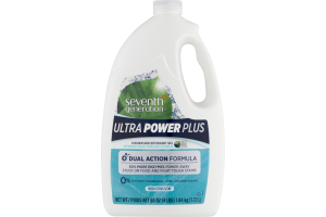 Seventh Generation Ultra Power Plus Dishwasher Detergent Gel Fresh Citrus Scent