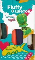 Набір для ліпки для дітей від 3років №ТА1503 Пластилін повітряний 4 кольори Fluffy Genio kids 1шт