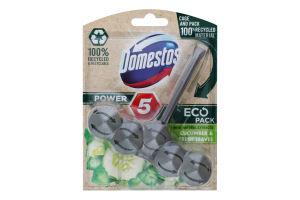 Блок для очищення унітазу Свіжість огірка та молодої трави Power 5 Domestos 55г