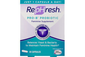 RepHresh Pro-B Probiotic Feminine Supplement Capsules - 30 CT