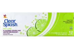 Clear Splash Key Lime Flavored Sparkling Water Beverage -12 CT