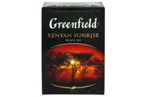 Чай чорний крупнолистовий Kenyan Sunrise Greenfield 100г