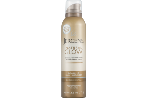 Jergens Natural Glow Foaming Daily Moisturizer Medium to Tan