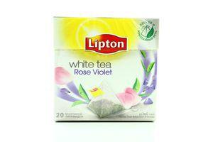 Чай Lipton білий Пелюстки фіалки-троянди 32г