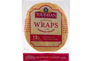Toufayan Bakeries Wraps Sundried Tomato - 6 CT