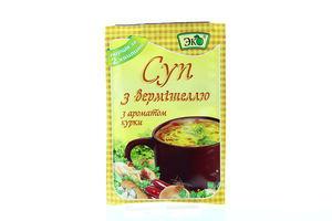 Суп быстрого приготовления с вермишелью с ароматом курицы Эко м/у 18г