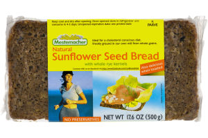 Mestemacher Natural Sunflower Seed Bread with Whole Rye Kernels