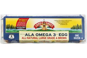 Land O'Lakes Ala Omega 3 All-Natural Eggs Large Grade A Brown - 12 CT
