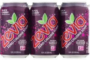 Zevia Zero Calorie Soda Black Cherry - 6 PK