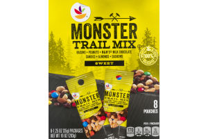 Ahold Trail Mix Monster Pouches Sweet - 8 CT