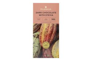 Шоколад 74% чорний зі стевією Millennium к/у 100г