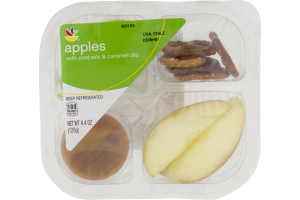 Ahold Apples with Pretzel & Caramel Dip