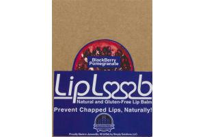 LipLoob Natural and Gluten-Free Lip Balm BlackBerry Pomegranate Display