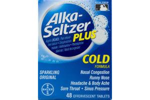 Alka-Seltzer Plus Cold Effervescent Tablets Original - 48 CT