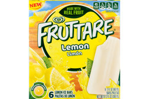 Fruttare Lemon Ice Bars - 6 CT