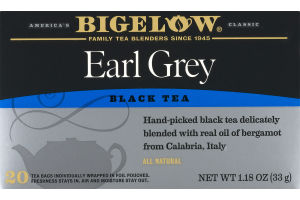 Bigelow Earl Grey Black Tea - 20 CT