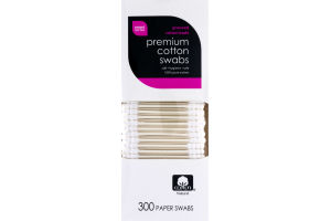 Smart Sense Premium Cotton Swabs - 300 CT