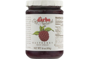 D'arbo All Natural Fruit Spread Raspberry